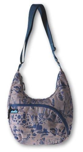 KAVU Women's Singapore Satchel Shoulder Bag, Blue Jungle, 13 X 15-Inch
