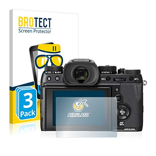 BROTECT Panzerglas Schutzfolie kompatibel mit Fujifilm X-T2 (3 Stück) - 9H Extrem Kratzfest, Anti-Fingerprint, Ultra-Transparent