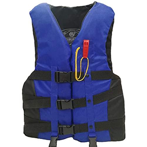 Backboards Chalecos De Pesca,Hombro Ajustable Removible Bolsillos Chalecos,Oxford Cloth Alta Flotabilidad Chaqueta,Mujeres Viajes Deportes Caza Abrigo,Blue,XL