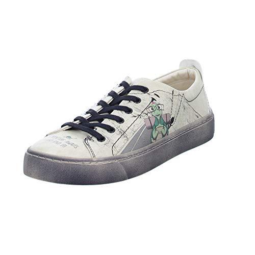 DOGO Shoes Damen Sneaker Adventure Awaits go find it Schnürhalbschuhe Beige (beige) Größe 38 EU