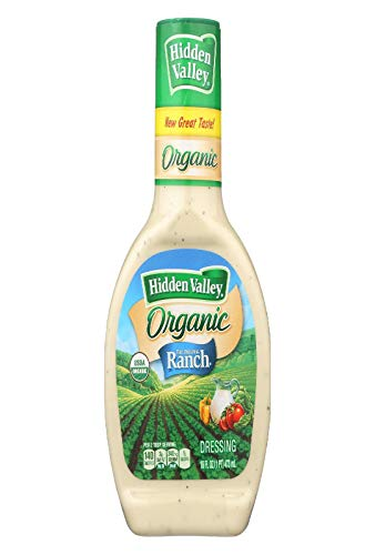 Hidden Valley Original Ranch Organic Salad Dressing & Topping, Gluten Free - 16 Ounce Bottle (Package May Vary)