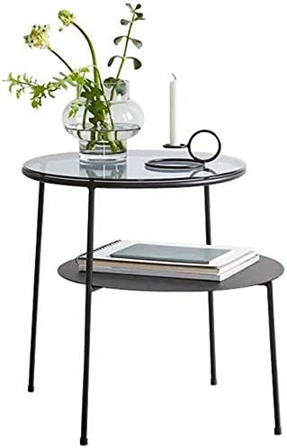 LQ Coffee Table Double Layer Metal Modern Glass Bombing new work Indianapolis Mall Geometric Design