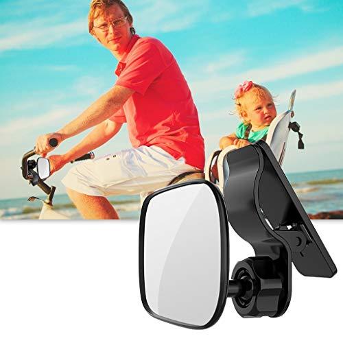 ODJOY-FAN Spiegel Auto Endoskop Rückspiegel Reflektor Auto Beobachtungsspiegel Auto Hilfsspiegel Fahrradzubehör, 360 Grad Drehung (Schwarz, 1PC)