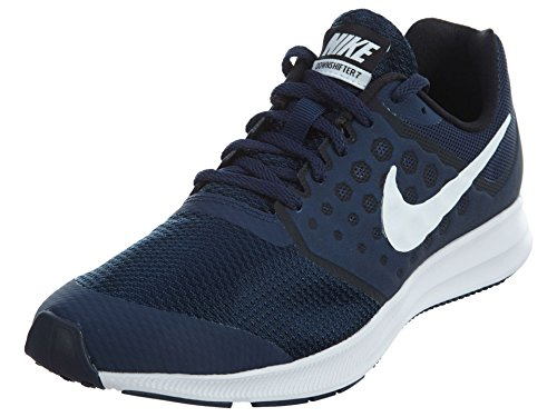 Nike Downshifter 7 (Gs), Scarpe Running Unisex – Bambini, Blu (Midnight Navy/white-dark Obsidian-black), 39 EU