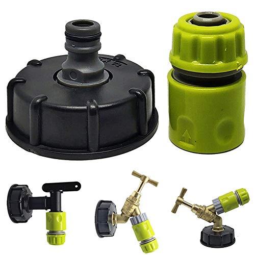 G.Y.X 2pcs / Set Easy Use Tankanschluss- Mini-Hahn IBC Adapter 1/2