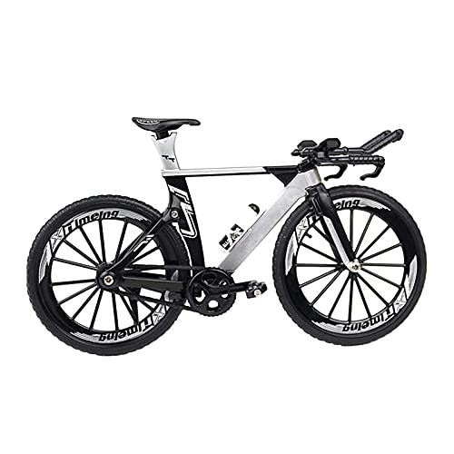 XIAOXIA Chronograph Racing Simulation Bicycle Model Metal Home Gift Ornaments Mini Bicycle Collection