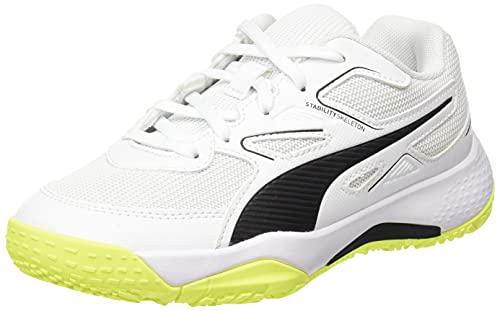 Puma Solarflash Jr, Zapatillas de Balonmano, White Black, 37 EU