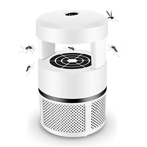 Calculatrice Lámpara antimosquitos, lámpara de protección contra mosquitos, USB, lámpara UV antimosquitos, no tóxico, mosquitos, moscas, etc., oído en la temprana y en el comedor (blanco)