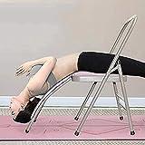 Silla Asistente de Yoga Plegable con Soporte bajo 480lbs Capacidad por Iyengar Yoga Pilates balancear la Herramienta de Entrenamiento de Parada de Mano