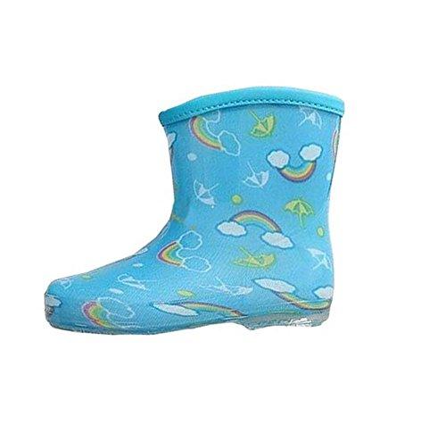 Arc-enfants mignons Chaussures de pluie Durable bébé Rain Boot Bleu