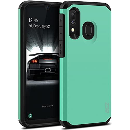 BEZ Funda Samsung A40, Carcasa Protectora para Samsung Galaxy A40 Antideslizante Híbrida Gota Protección, Cover Anti-Arañazos con Absorción de Choque Resistente, Menta