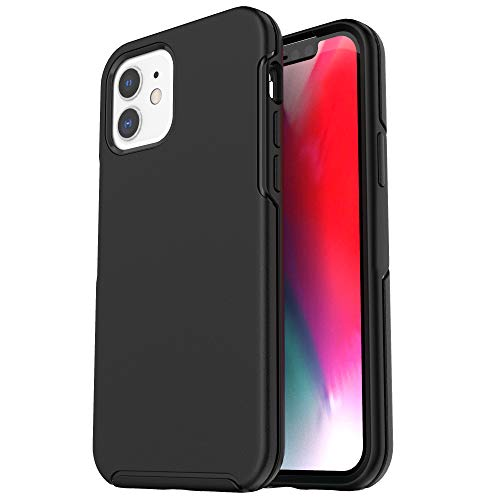 Krichit Ongoing Series Compatible with iPhone 12 Mini case (2020), Anti-Drop and Shock-Absorbing case Compatible with 5.4-inch iPhone 12 Mini case (Black)