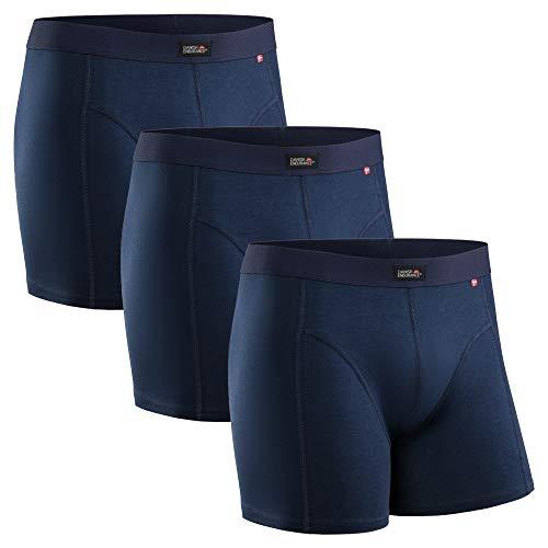 DANISH ENDURANCE Bóxers para Hombres Pack de 3 (Azul Marino, XX-Large)