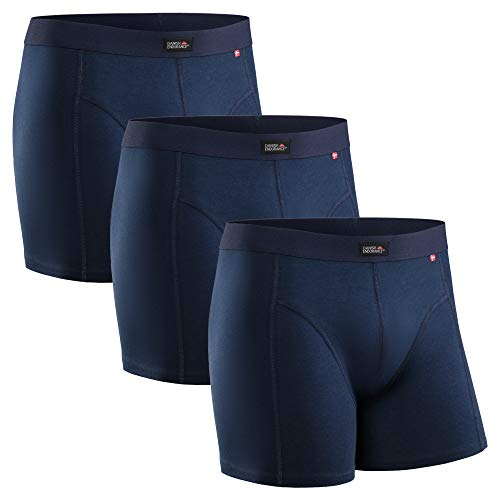 DANISH ENDURANCE Bóxers para Hombres Pack de 3 (Azul Marino, X-Large)