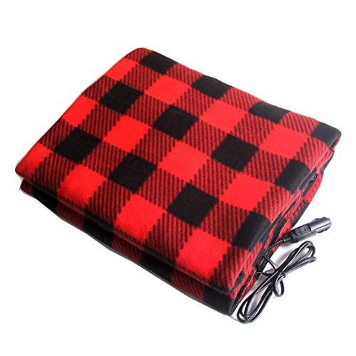 FAEIO Manta eléctrica para Coche 1.1 * 1.5m Manta eléctrica Manta calefactora Adecuado para Oficina, hogar. Red Black