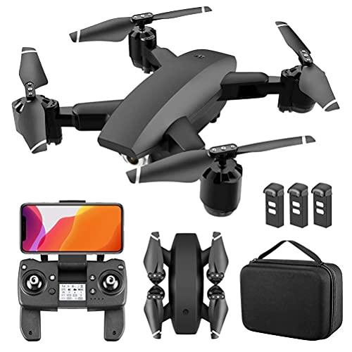 FMHCTN 5G WiFi FPV GPS-Drones con Fotocamera, Drone quadricottero RC con 4K Ultra Clear-Camera, 110 ° groothoeklivevideo, Doppia Fotocamera, è Una Funzione di Ritorno