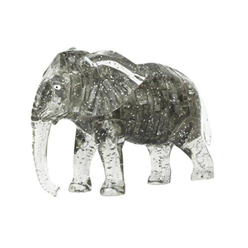 HUHU833 3D Crystal Puzzle - Gray Elephant
