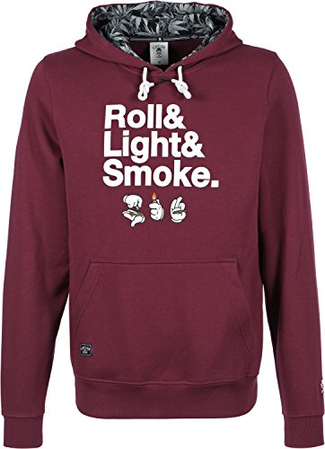 Cayler & Sons Roll Light Smoke Hoodie S maroon/white/black