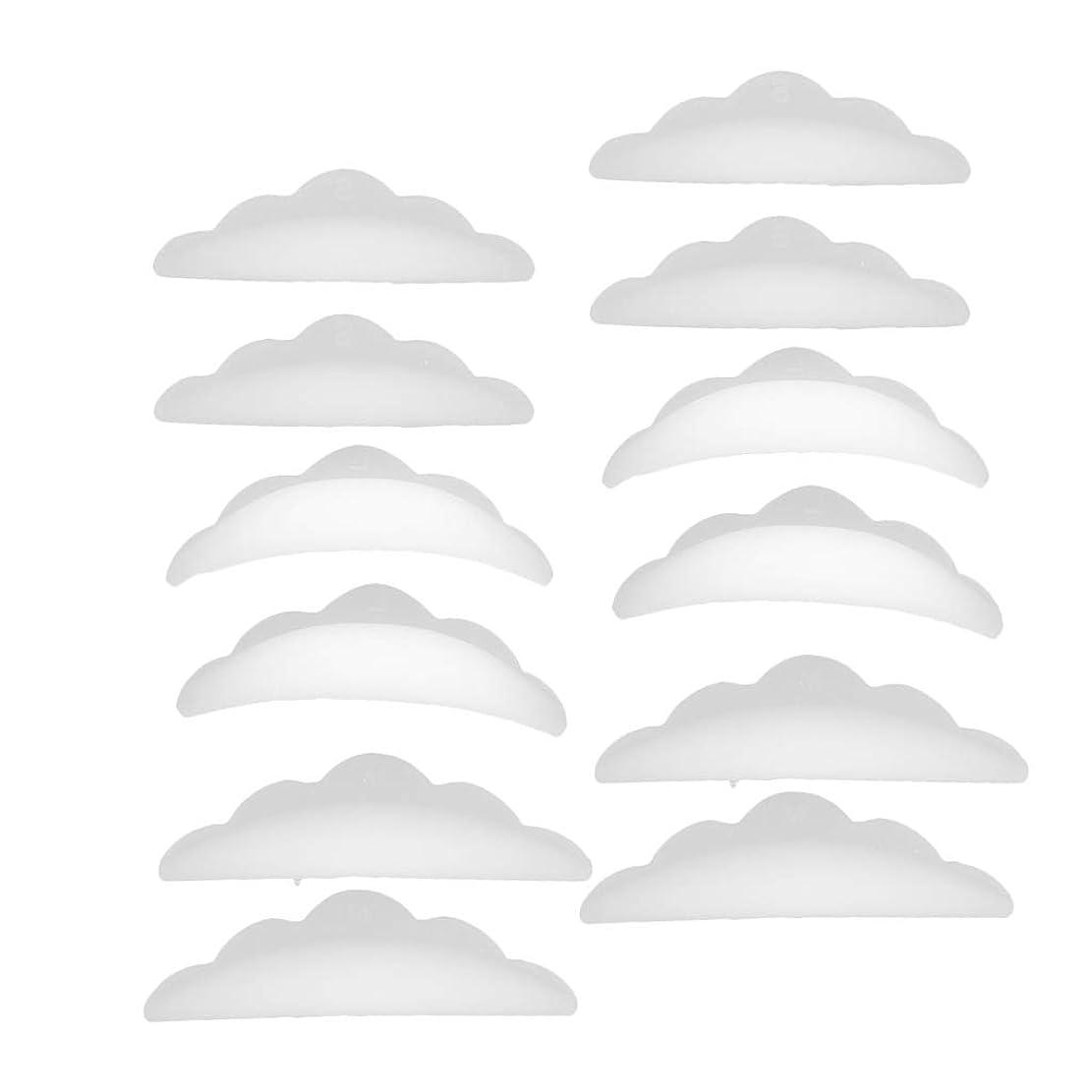 観光不満パイルCUTICATE まつげパーマパッド 12本 シリコーン 団子形 シールド アイメイク