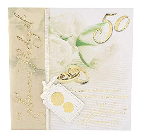 Depesche 4907.048 Glückwunschkarte Emotions in edlem Design, Goldene Hochzeit, Mehrfarbig