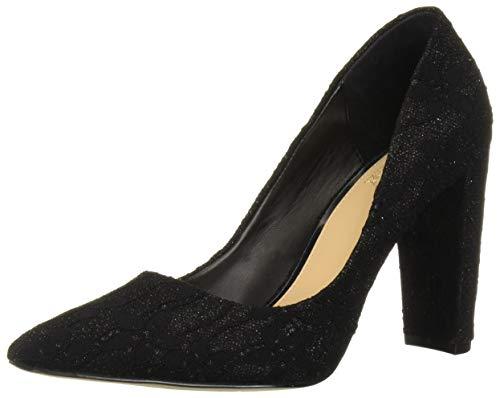 Jewel Badgley Mischka Women's RUMOR Shoe, Black Lace, 8 M US