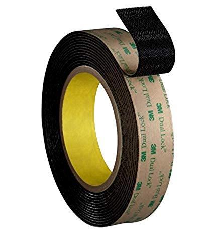3M Dual Lock Reclosable Fastener TB4575, Black, 1 in x 10 ft