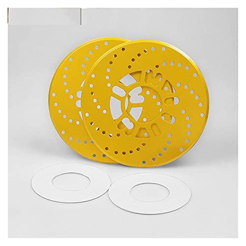 FENGFENG Sun Can 2pc Coche Carreras de Rueda de neumático Freno de Freno Freno Decorativo Ajuste para BMW E36 E46 E90 E91 E92 E93 E81 E82 E87 E88 E34 E39 E60 E61 E84 E83 Z4 (Color : Yellow)