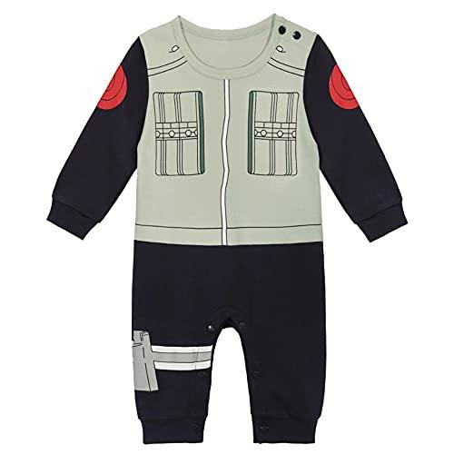 Body manga bebé   Pijama para niño y niña Anime Kawaii   Traje de disfraz 100% algodón Kakashi 18-24 Meses