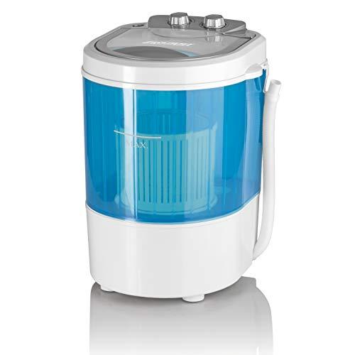 CLEANmaxx 07475 Mini-Waschmaschine, Toplader mit Schleuder Campingwaschmaschine Waschautomat für...