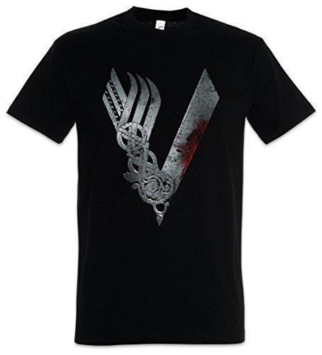 Urban Backwoods Vikings Logo Celtic Herren T-Shirt Schwarz Größe XL