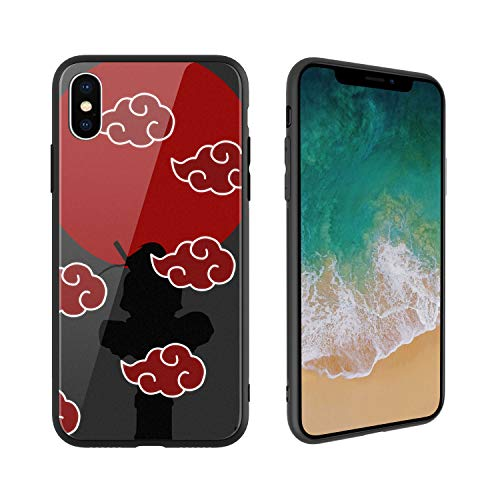 Anime Comic Manga Naruto 072 Design, Tempered Glass Case for iPhone7 Plus and iPhone8 Plus, Soft Silicone Bumper Anti-Scratch Ultra-Thin, iPhone7 Plus and iPhone8 Plus Phone Cover for Girls, Teens