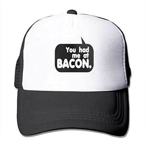 Myhou You Had Me at Bacon Casquette de baseball réglable en maille filet Noir