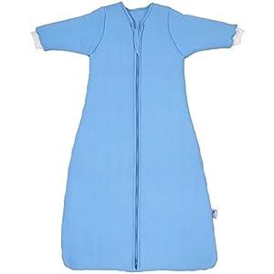 Saco de repetición Invierno–Saco de dormir para bebé 3.5tog con mangas–Disponible en varios tamaños y colores azul azul Talla:70 cm