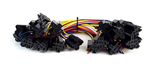 Install Bay 25 Pack Economy 12' 5-Wire Relay Harness Socket w/Leads 5-Pin