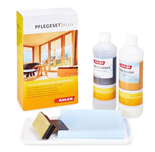 Pflegeset-Plus aus Reiniger und Pflege für Fenster und Gartenmöbel