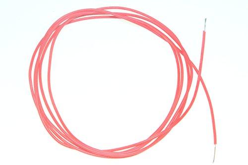Silikonkabel 28 AWG Silikon Kabel Farbe Rot Ø Innen 0,4mm Ø Außen 1,2mm Stromkabel Elektrokabel Meterware Modellbau Neu Power cable