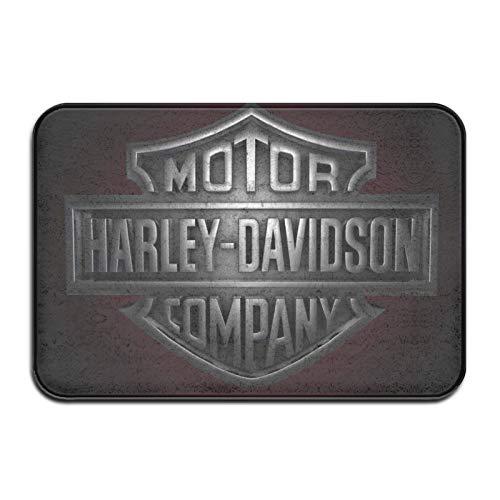 Longdai - Tappetini per ingresso Harley Davidson per interni ed esterni, per garage, patio, zone ad alto traffico, 60 x 40 cm