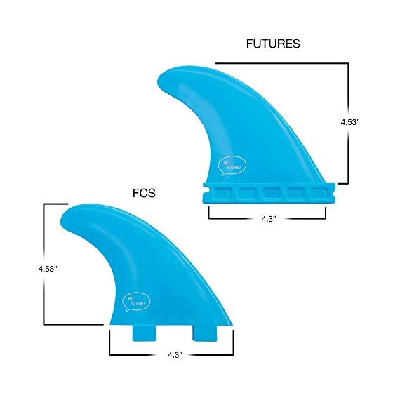 Ho Stevie! Fiberglass Reinforced Polymer Surfboard Fins - Thruster (3 Fins) FCS or Futures Sizes, with Fin Bag, Screws… 6 🏄♂️ THRUSTER FINS fit any surfboard that uses FCS (original or FCS II) or Futures fins (select which kind) - whether it's a shortboard, funboard, or longboard. 🌊 BALANCED FIN TEMPLATE is suited for all types of waves. Hit the accelerator at your favorite point break, boost some airs, or lay into some wedges at the nearest beachbreak. 🎁 INCLUDES EVERYTHING YOU NEED: 3 surfboard fins, wax comb / fin key / bottle opener, fin screws, and travel case.