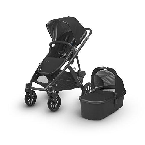 UPPAbaby VISTA Stroller, Black/Carbon/Leather, Jake