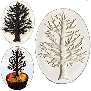 S.Han Silicone Sea Tree Fondant Moulds Gum Paste Chocolate Mold Cake Decorating Tools Clay Art