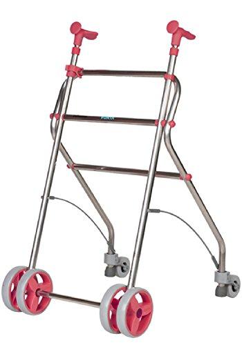 Forta fabricaciones - Andador de aluminio para ancianos Rollatino - Coral ✅