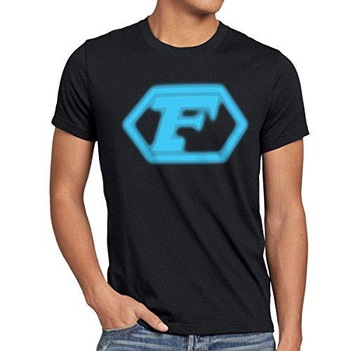 style3 Future T-Shirt Herren Anime, Größe:XXXL;Farbe:Schwarz