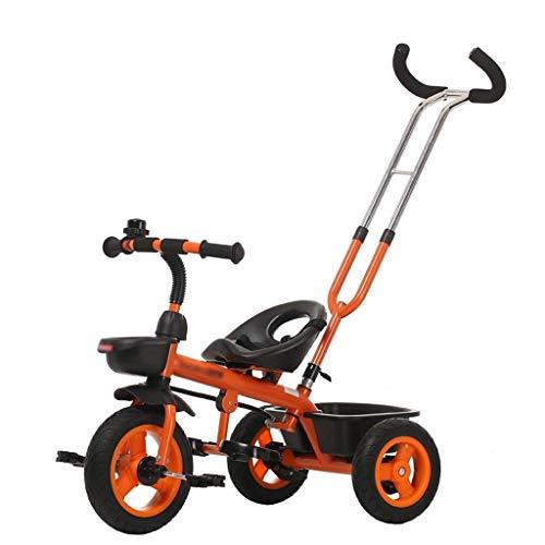 Gymqian Bicicletas para Niños, con Mango de Empuje para la Dirección Fácil, Empuje Padres Niño Niña Amp Cubierta; Al Aire Libre con Cuba de Almacenamiento Y Pedales Plegables fsdfsdf