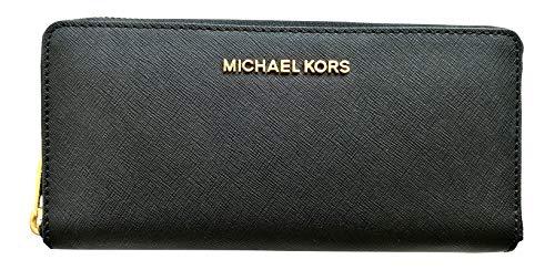 Michael Kors Brieftasche/Geldbörse - Schwarz mit silberner Schrift