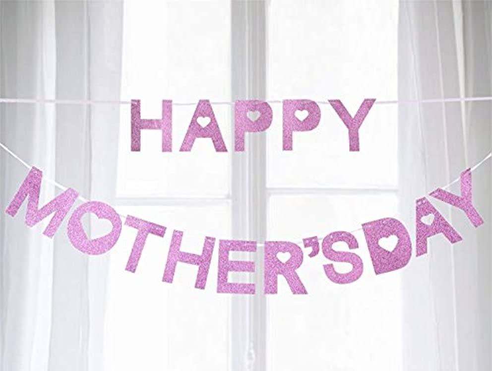 jollylife Happy Mother's Day Banner Decorations - Garland Bunting Party Supplies Ornaments