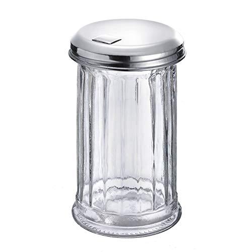 Westmark Sucrier Doseur, Capacité : 300 ml, Verre/Acier Inoxydable, New York, Argent/Transparent, 65202260