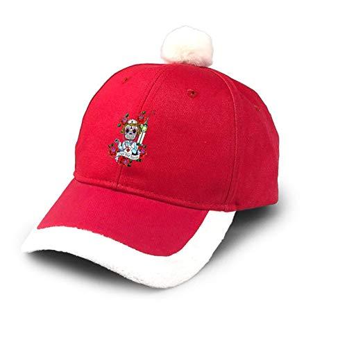 Sombrero de camionero para enfermera, crneo de azcar, Halloween, floral, sombrero de Navidad, algodn, gorra de Pap de bisbol, disfraz de Pap Noel, rojo