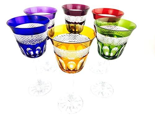 Weingläser handgemacht, Service 6 Gläser (20 cl), Roemer Glaskristall, Unterschrieben und gestempelt Klein 54120 Baccarat, Geschenkidee