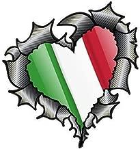 3D Stile stampa effetto ITALIA ITALIANO IL BANDIERA TRICOLORE Retro Macchie motivo vinile auto moto adesivo 150X100MM ca