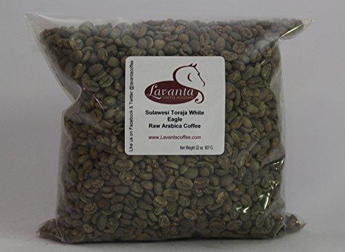 Lavanta Coffee Roasters Sulawesi Toraja 'White Eagle' Direct Trade Coffee, Green, 2 lb